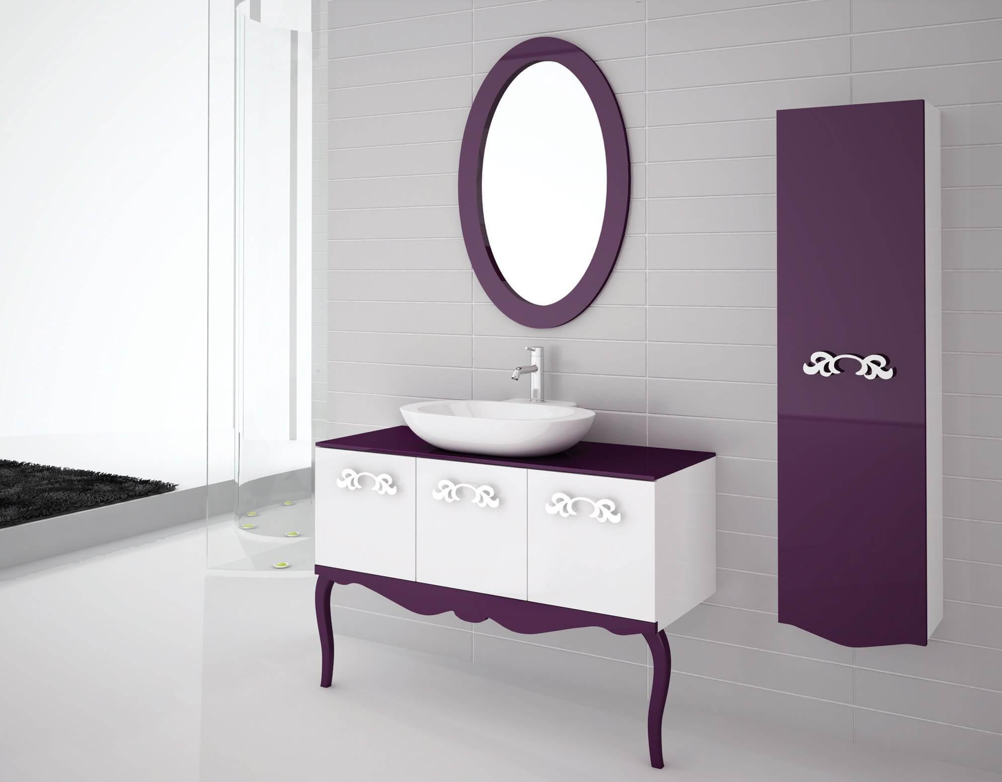 Modern mor renkli banyo dekorasyonu ev dekorasyonu dizayn - Modan N Modern D Nemden Postmodern D Neme Ge I Iyle Birlikte Ev Dekorasyonu Ve Zellikle Banyo Dizayn Yeni Bir Bi Ime B R Nm T R