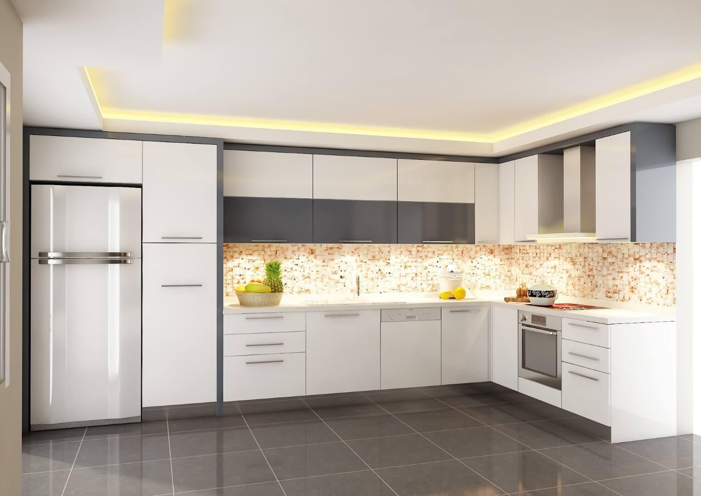 Modern beyaz mutfak dolab dizayni en son dekorasyon modelleri - Modern Beyaz Mutfak Dolab Dizayni En Son Dekorasyon Modelleri 3