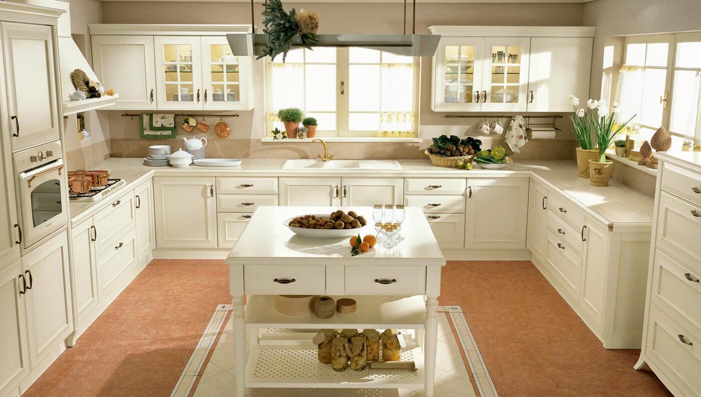 Modern beyaz mutfak dolab dizayni en son dekorasyon modelleri -  Skandinav